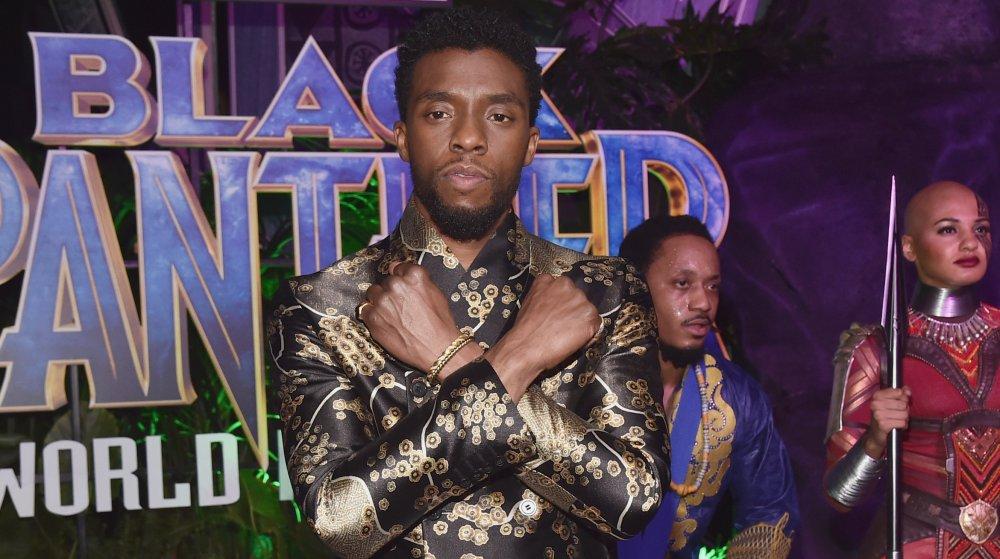 Chadwick Boseman på premiären av Black Panther