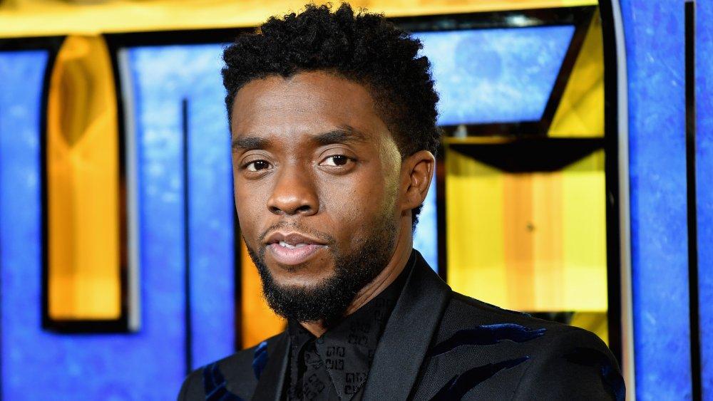 Chadwick Boseman på den europeiska premiären av Black Panther