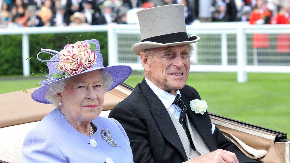 Drottning Elizabeth och prins Philip på Royal Ascot Ladies Day 2010