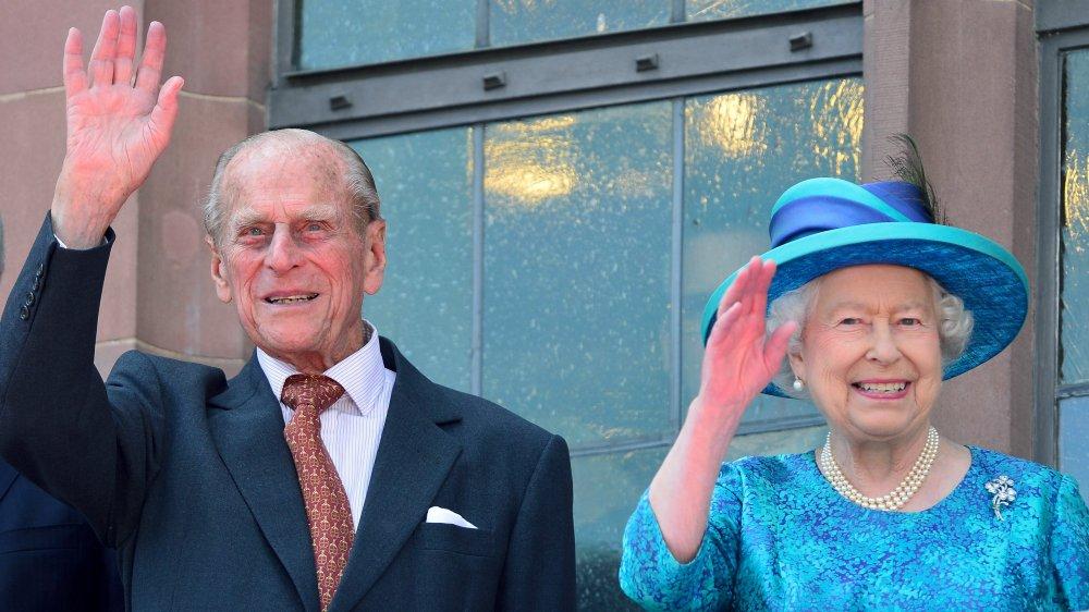 Prins Philip och drottning Elizabeth i Roemers stadshus i Frankfurt 2015