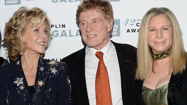 Jane Fonda, Robert Redford och Barbra Streisand, alla leende