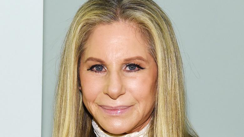 Barbra Streisand lite leende