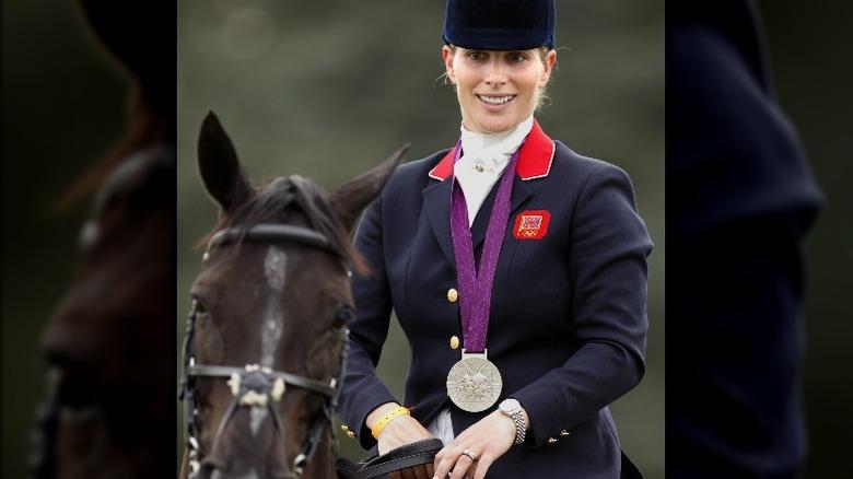 Zara Tindall på häst