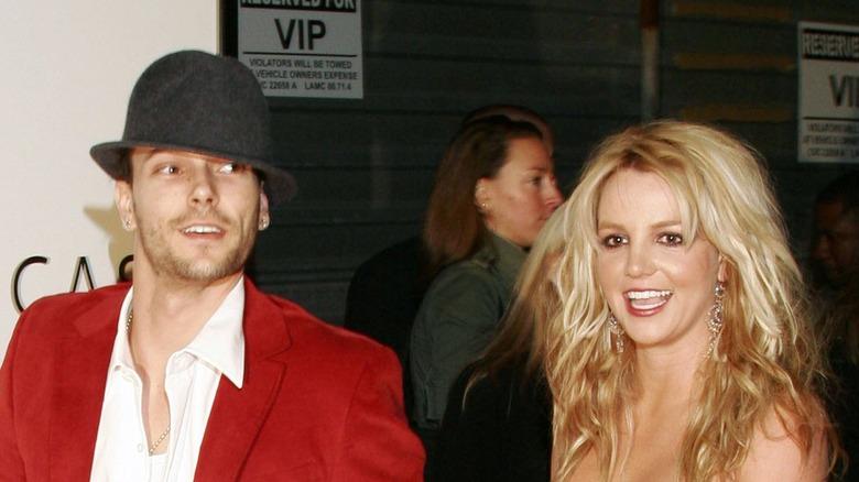 Kevin Federline och Britney Spears på röda mattan
