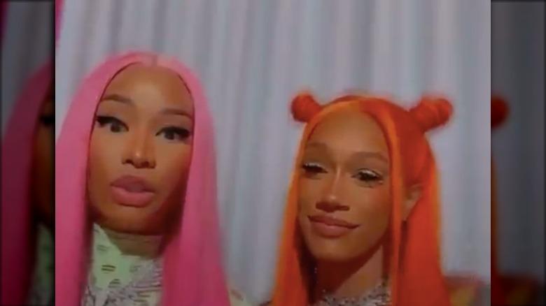 Nicki Minaj och BIA på Instagram Live tillsammans