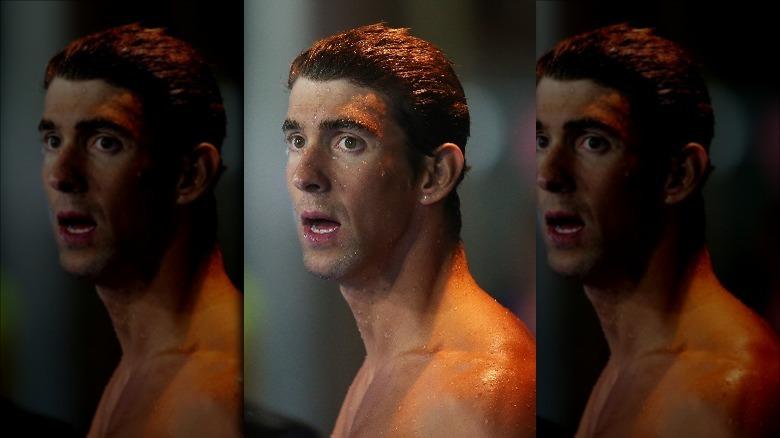 Michael Phelps efter ett lopp