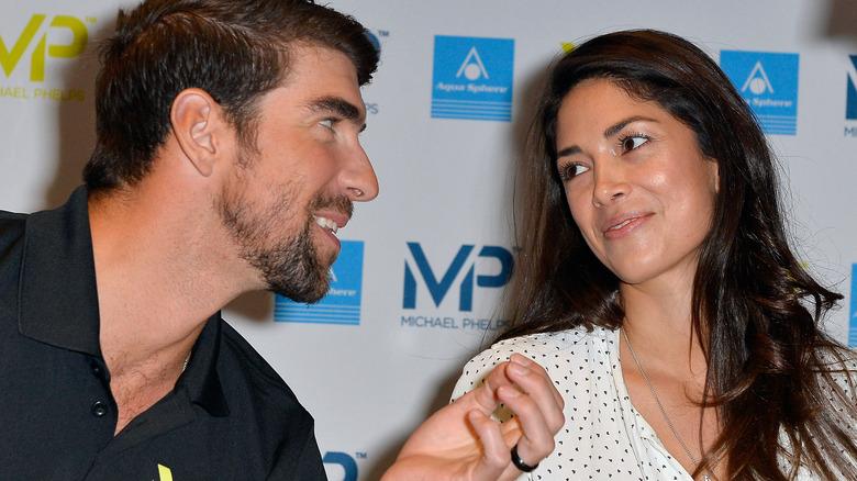 Michael och Nicole Phelps vid ett evenemang
