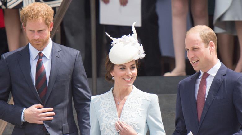 Prins Harry, Kate Middleton och prins William tillsammans