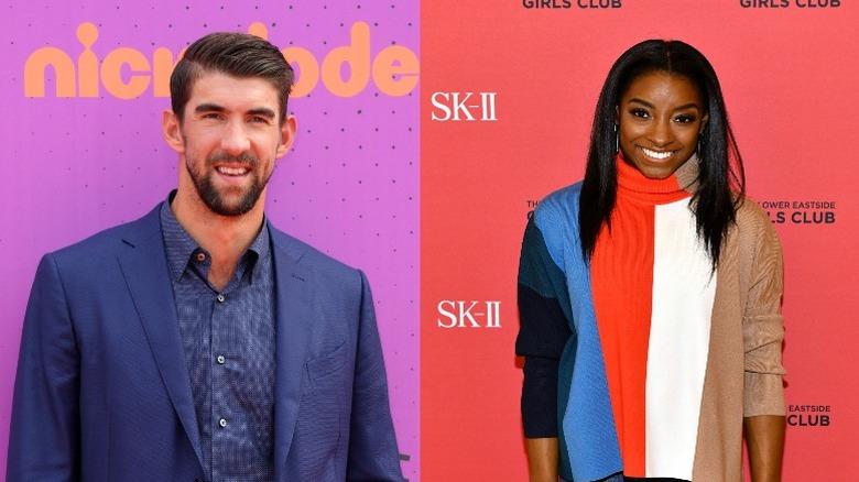 Michael Phelps och Simone Biles
