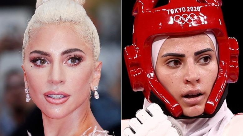 Lady Gaga och Julyana Al-Sadeq sida vid sida