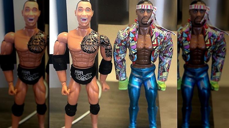 The Rock och Kevin Hart actionfigurer