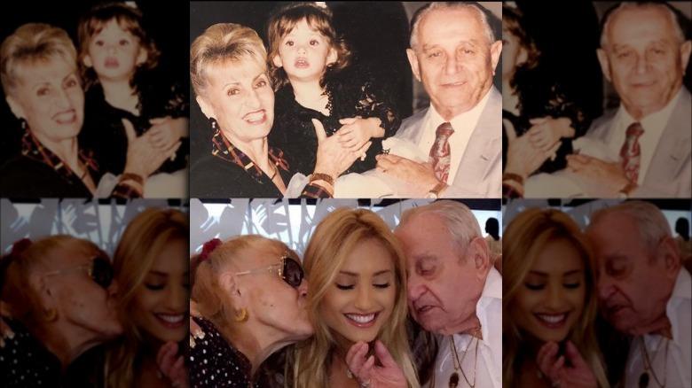 Montana Tucker med sina farföräldrar