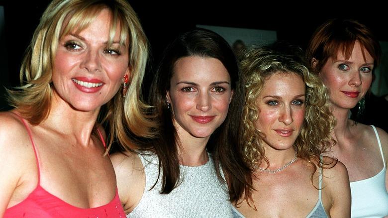 Kim Cattrall, Kristin Davis, Sarah Jessica Parker, na Cynthia Nixon mnamo 2000