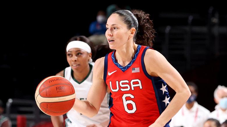 Sue Bird som spelar olympisk basket