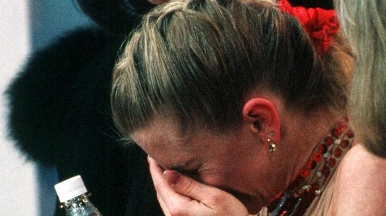 Tonya Harding gråter i handen