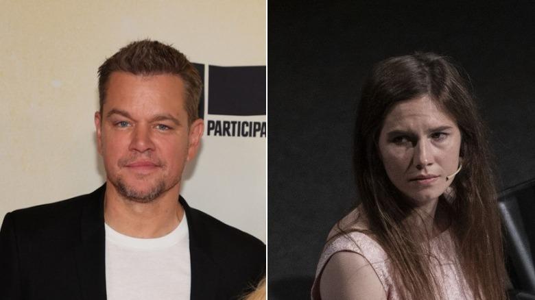Matt Damon na Amanda Knox kando kando