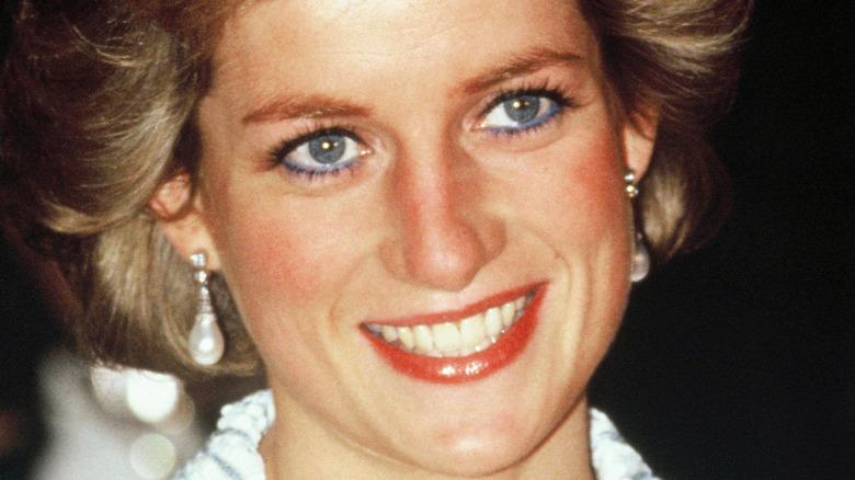 Diana, prinsessan av Wales, deltar i en middag i Frankrike 1988