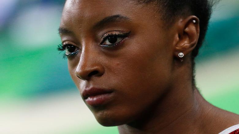 Simone Biles vid gymnastikhändelse