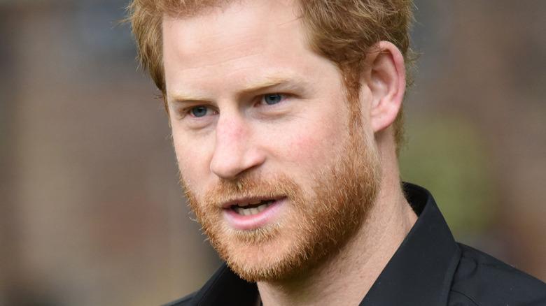 Prins Harry poserar
