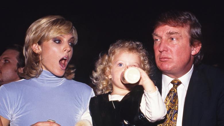 Marla Maples med Tiffany Trump och Donald Trump