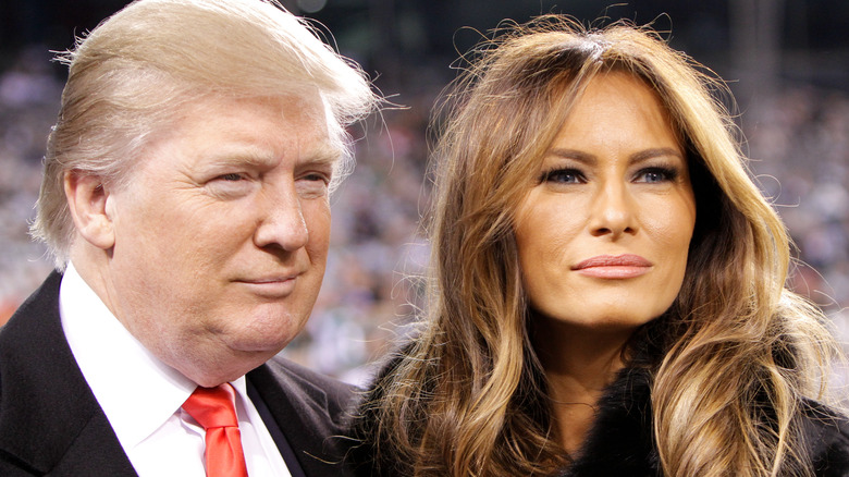 Donald Melania Trump leende tillsammans