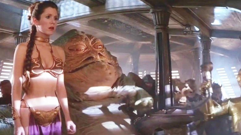 Princess Leia na Jabba the Hutt